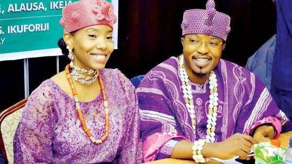 Oluwo of Iwo and his wife