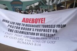protest at rccg