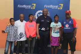 Dr. Adeduntan of FirstBank at Wesley School, Surulere