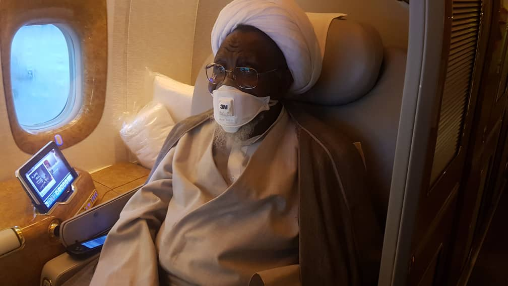 IMN leader, ibrahim el-zakzaky aboard-aircraft-to India for treatment