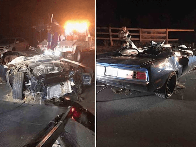 Kevin Hart totalled car