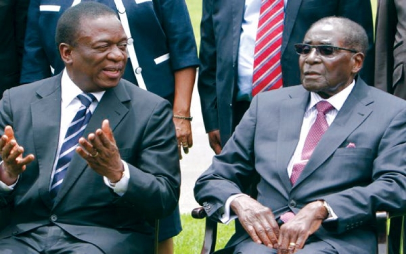 Mnangagwa and Mugabe