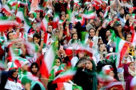Iranian women attends first football match in decades