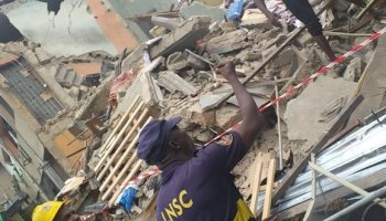 Image result for LASEMA demolishes four buildings under construction in Ikoyi for failing integrity test