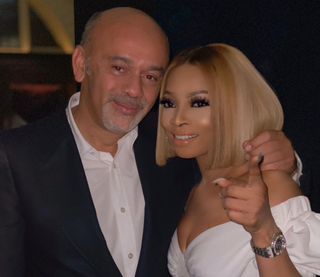 Toke Makinwa meets French Designer, Christian Louboutin
