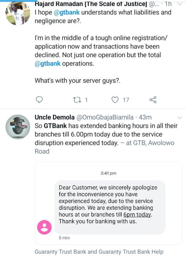 GTBank: Stranded Customers Slam Bank Management Over Poor Service