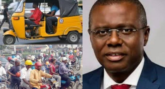 Sanwo-Olu Lists Lagos Roads Banned From Okada and Tricycle Riders