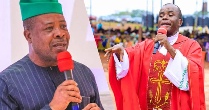 Fr. Mbaka Reveals Steps Ihedioha Should have taken before Supreme court ruling