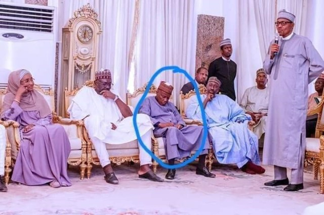 Minister Of Defence Caught Sleeping During Buhari's Speech In Borno (Photo)