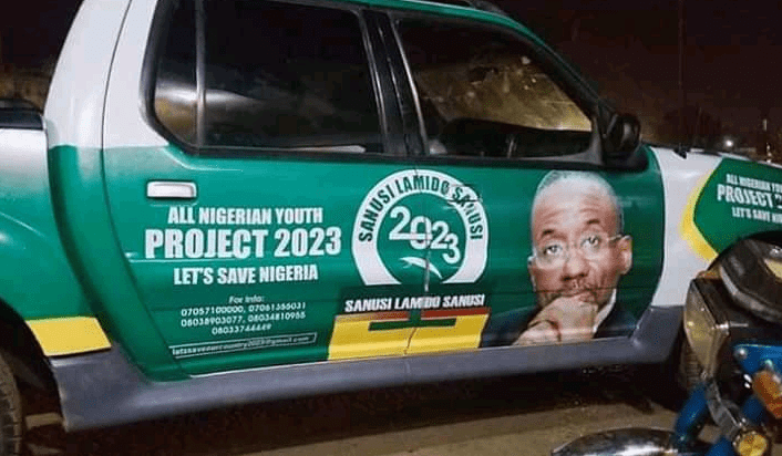 2023: Sanusi's Campaign Vehicles Spotted days after dethronement (Photos)