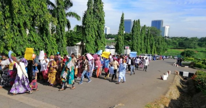 Hushpuppi Protesters demand Atiku's arrest at US Embassy in Abuja2