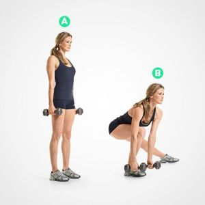 Side dumbbell lunges for wider hips