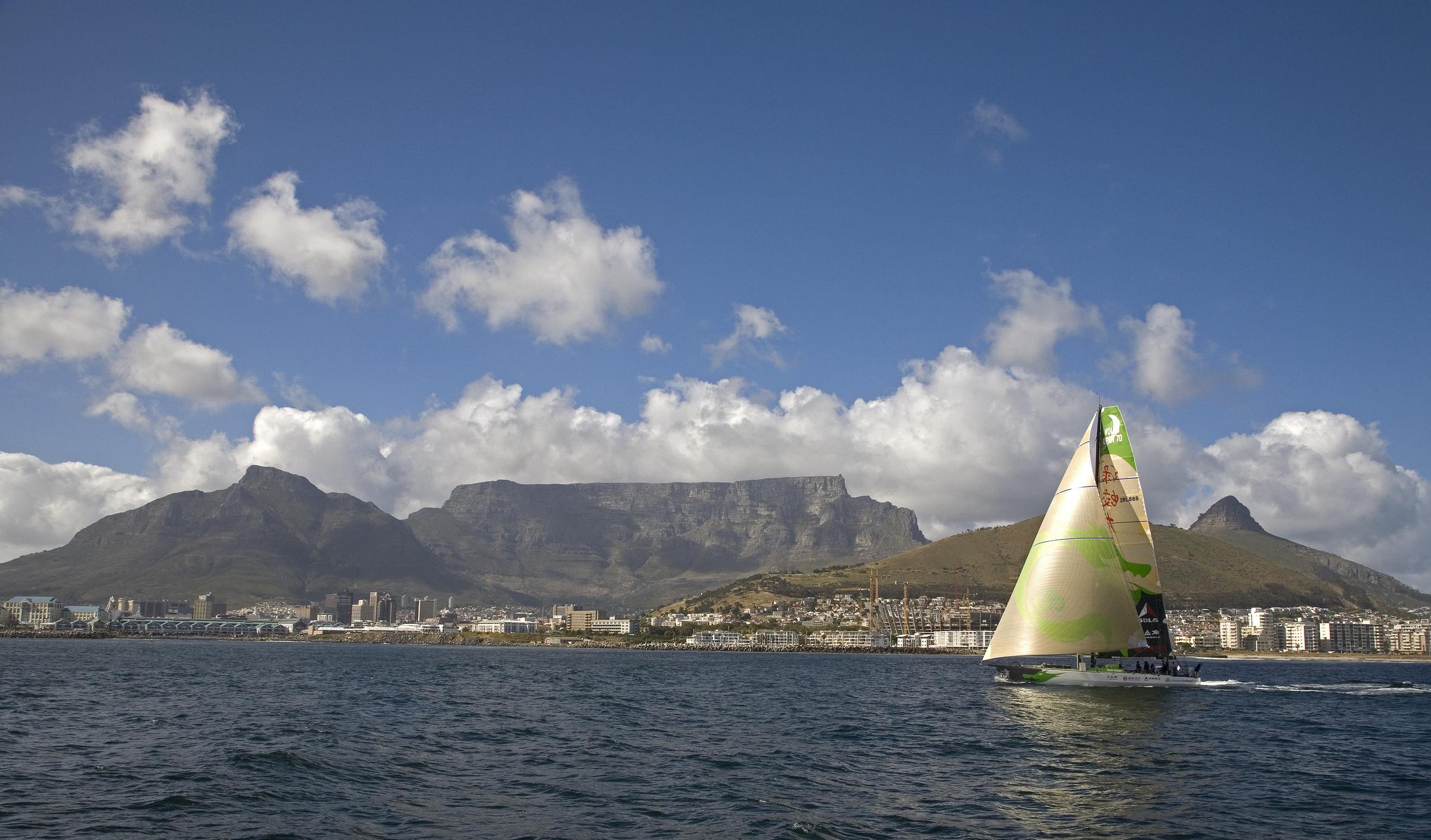 HeraldScotland: Green Dragon arrives in Cape Town. Photo: Oceansport