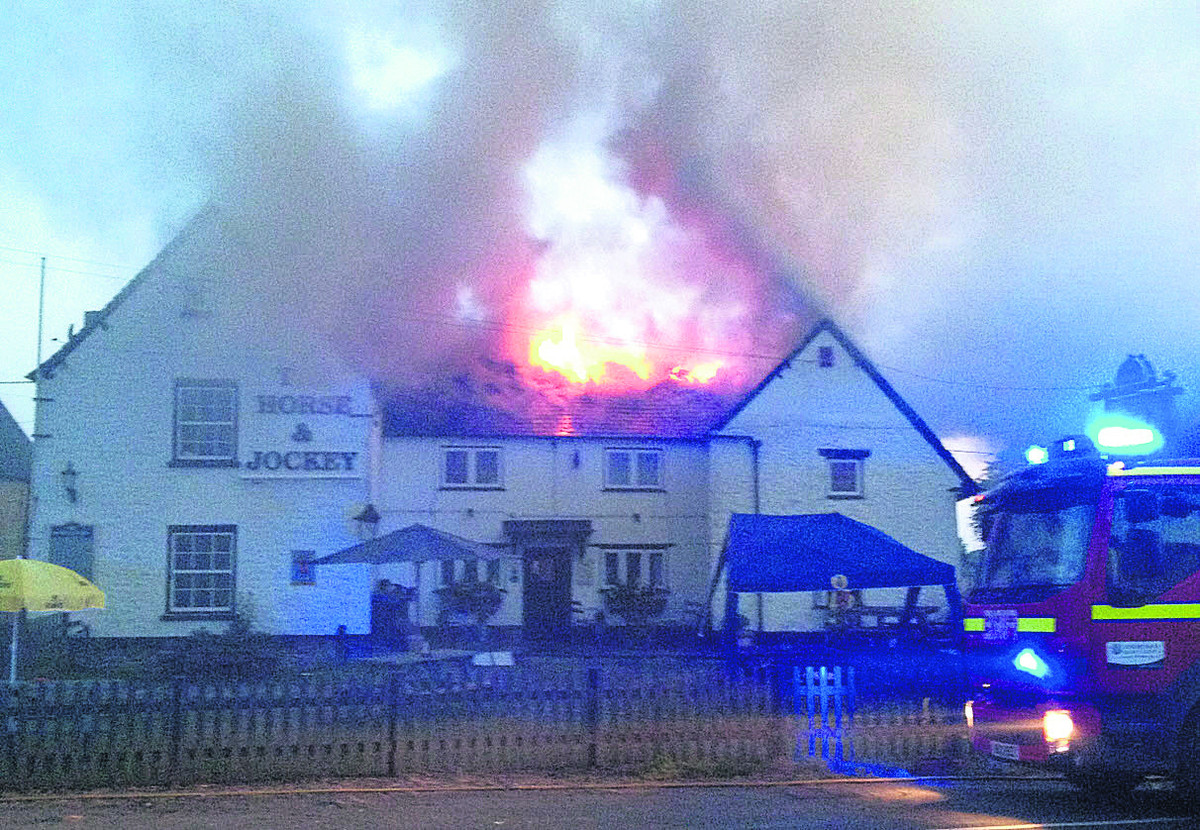 Fire at the Jockey