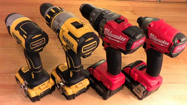 dewalt vs milwaukee vs makita 2018