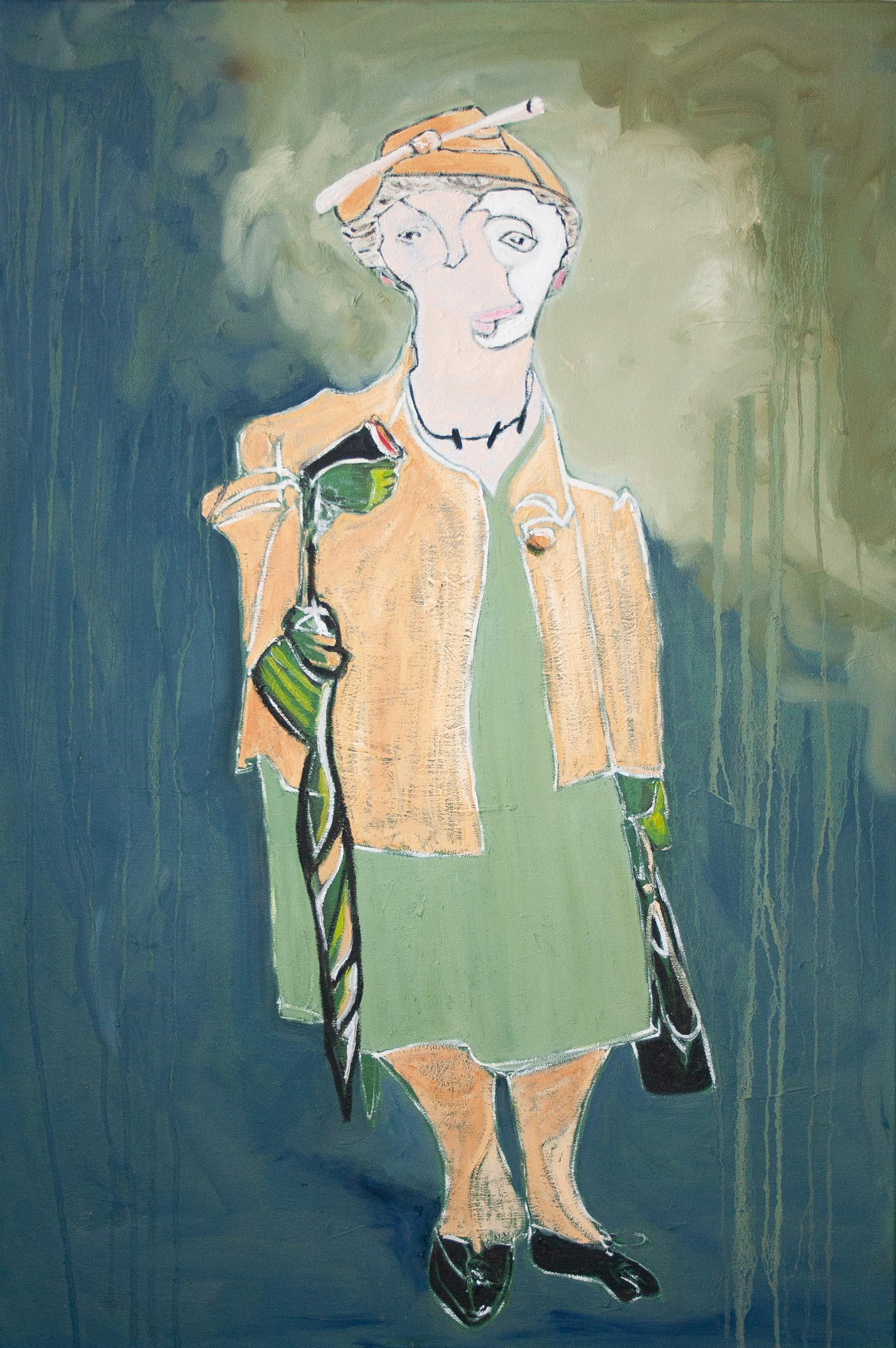 Blind Contour Homage: Shepherd by Marlene Lowden