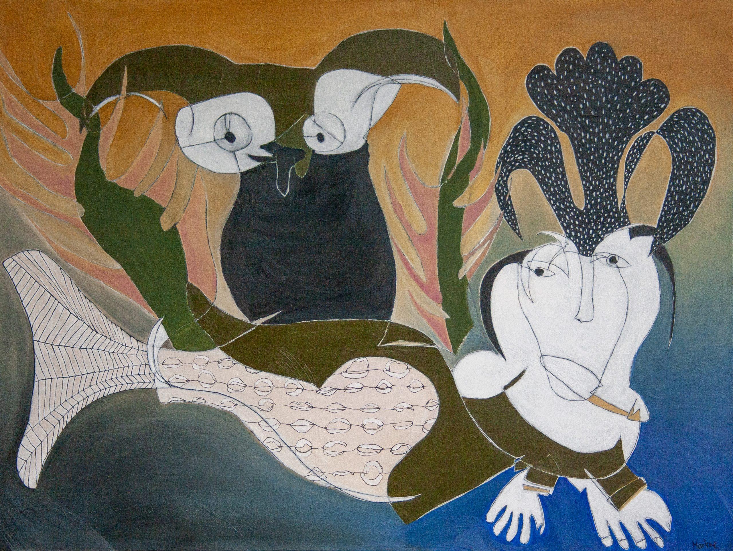 Blind Contour Homage: Ashevak by Marlene Lowden
