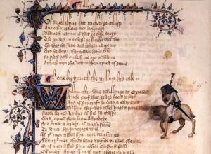 beginning of the Miller's Tale - Ellesmere manuscript
