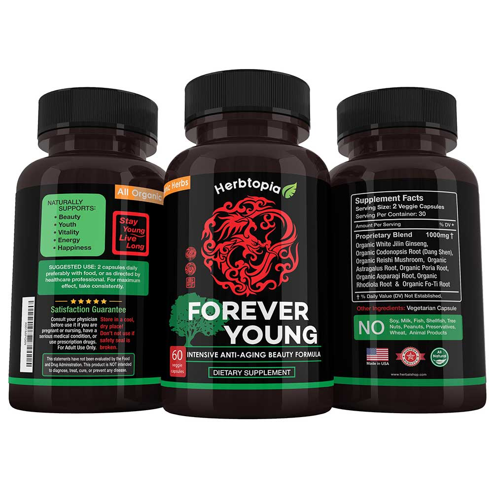 FOREVER YOUNG Anti Aging Beauty Supplement HerbalShop