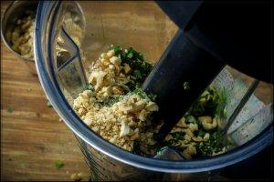 parsley pesto in blender