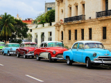 cars on street in Cuba