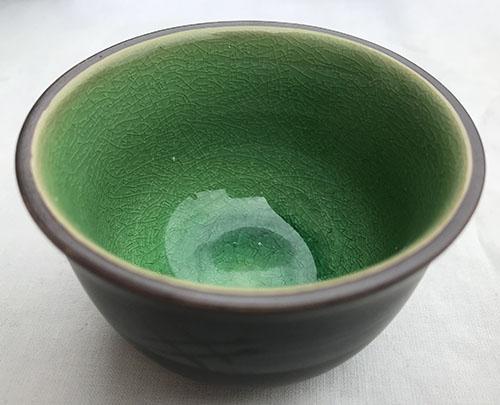 pots verts en porcelaine the