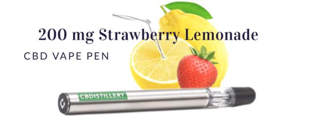 cbdistillery vape pen strawberry lemonade