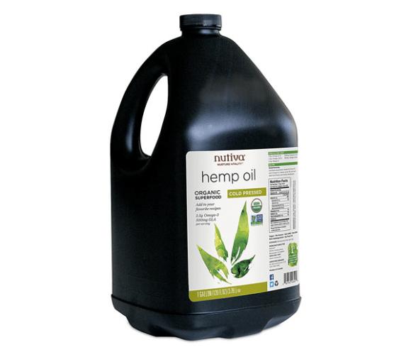 hemp oil nutiva gallon jug