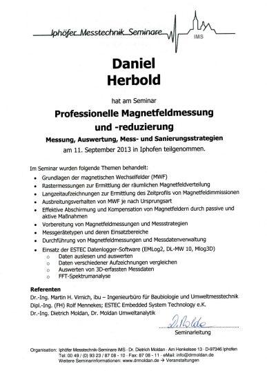 Seminar Professionelle Magnetfeldmessung- und Reduzierung