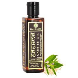 Organic Sesame Cold Pressed Carrier Oil For Face-Skin Care & Hair Care