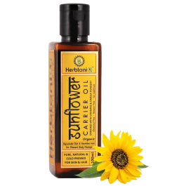 Organic Sunflower Cold Pressed Carrier Oil For Face-Skin Care & Hair Care