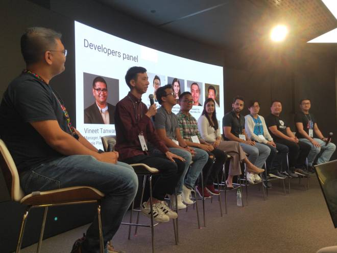 The Developers Panel with representatives from each of the 8 countries.