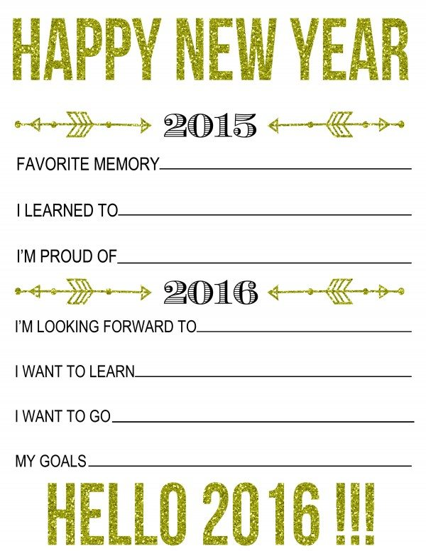 Goal New Year Printable – Merry Christmas And Happy New Year 2018
