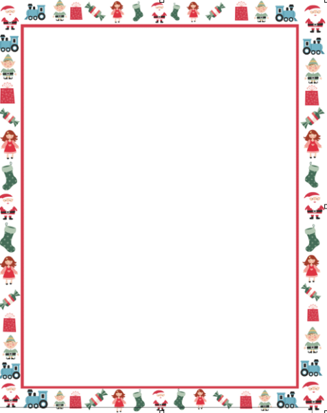 Writing Paper With Borders Template