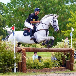Andrew Nicholson competing at the NAF Five Star International Horse Trials. Action Replay Photography.