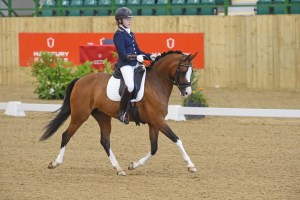 Sophie Taylor winner of the FEI pony test with Madam's Miss Maria. Photo Kevin Sparrow