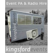 Kingsford Events, Event PA & Radio Hire