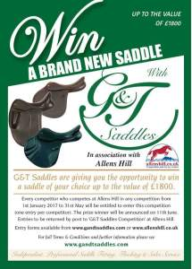 Win a saddle with G&T Saddles