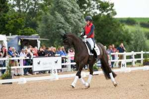 Charlotte Dujardin & Valegro warm up at Hartpury