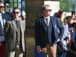 Vets Liam Kearns (rt) and Tim Randle with TD Marcin Konarski behind at the trot up