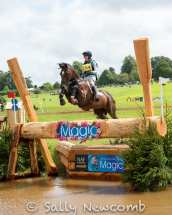 Worcestershire's Holly Needham with FOREVER NOBLE jumping boldly into the 4* water