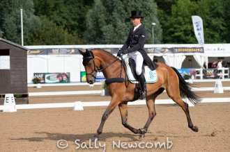 Kevin McNab during one of his 2 4* dressage tests