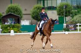 Watch out for this gorgeous young horse in the future, Sarah Bullimore's COROUET who did a lovely dressage test