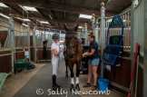 Bubby Upton gets ready to go and do her dressage