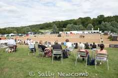 The view from the bank at the NAF International Horse Trials