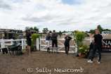 Pippa Funnell watches Chuffy Clarke & MORELANDS CELEBRATION's dressage test