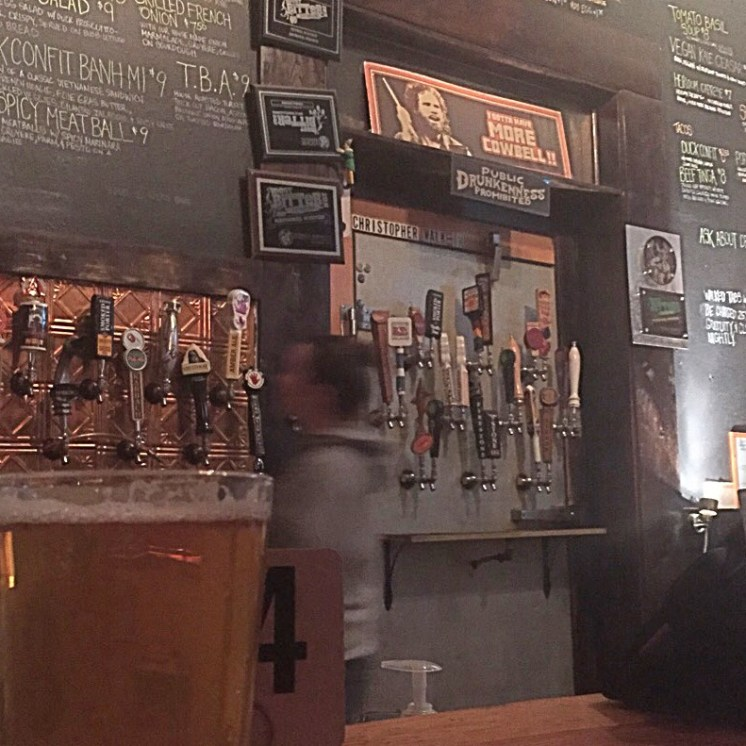 Beer list and the Christopher Walk-In