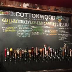 The draft beer at Cottonwood Bar