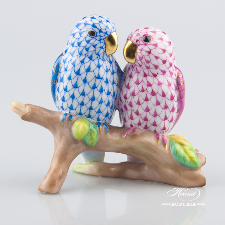 Love Birds Herend Animal Figurine Herend Figurines Herend Porcelain Animals