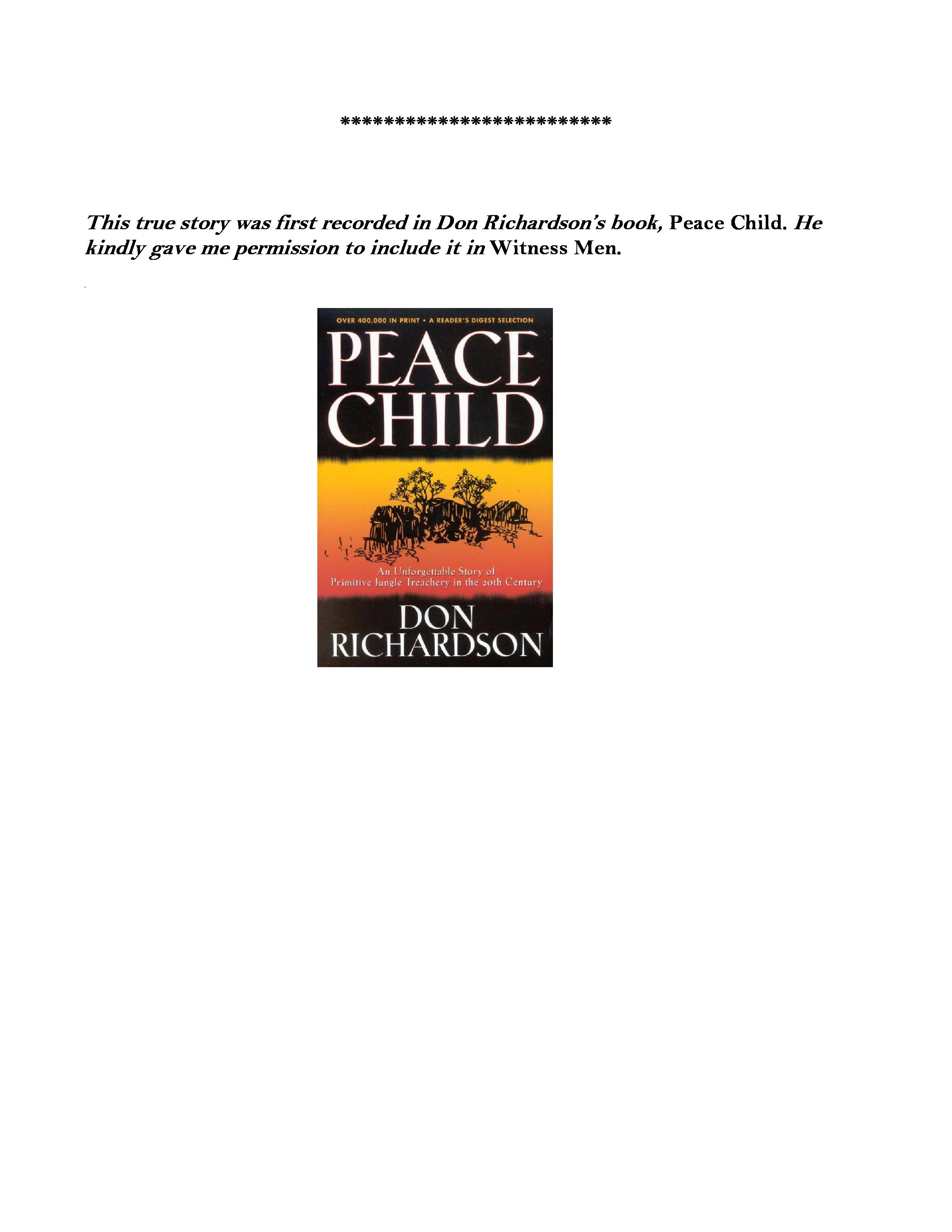 peace child book